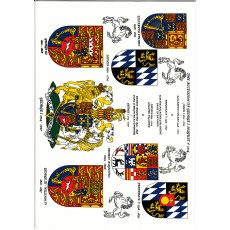 Heraldic Card : The Accession of George I August 1st 1714