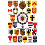 Heraldic Card : Founder Knights of the Garter