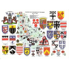 Heraldic Card : The Battle of Trafalgar 21st October 1805